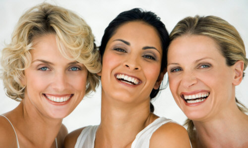 women over 40 smiling